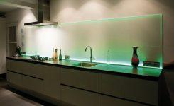 Glazen Achterwand Keuken Met Led