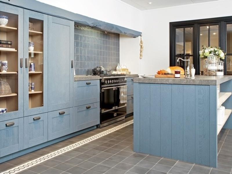 Keuken Blauw Grijs
