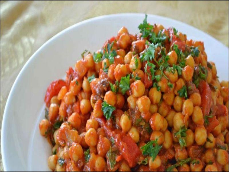 Kikkererwten Salade Marokkaanse Keuken