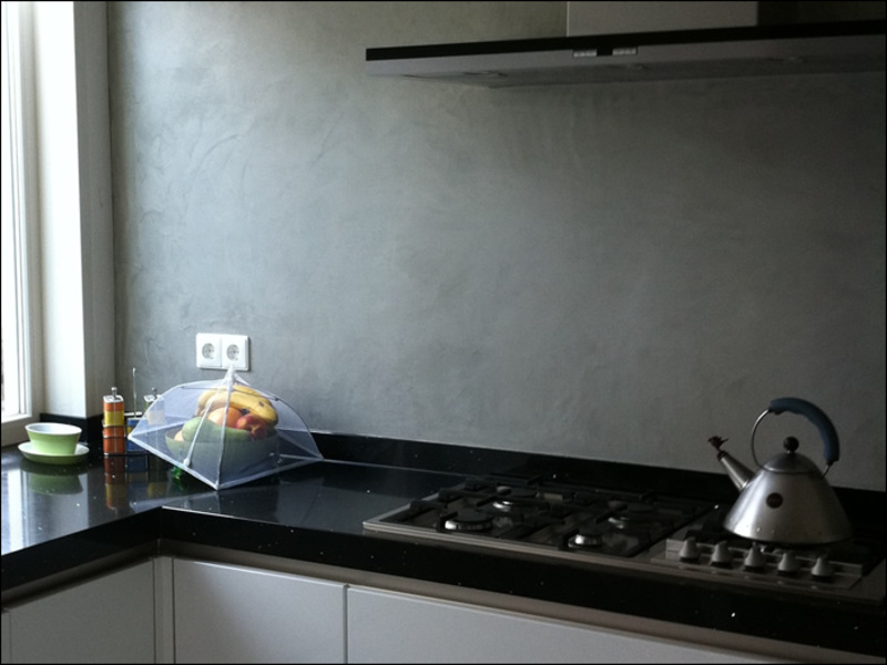 Stucwerk Keuken Afwasbaar