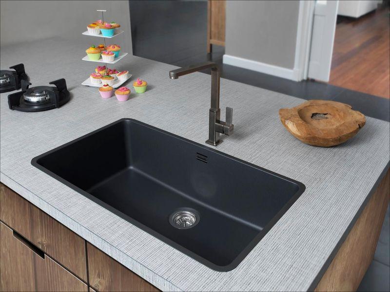 Wasbak Keuken Zwart