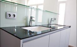 glazen spatwand keuken